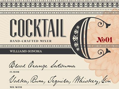 Cocktail Mixer label by Michael Hester | keep an eye out or detail.