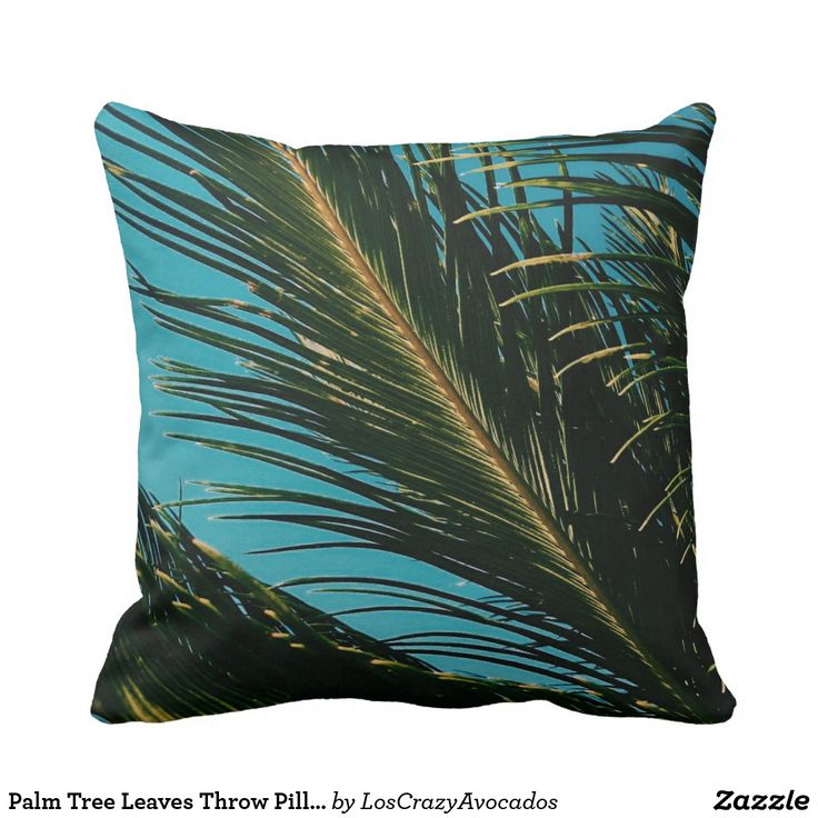 Palm Tree Leaves Throw Pillow / Cushion