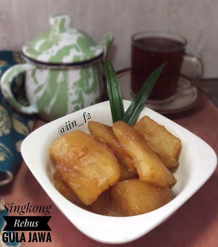 Singkong rebus gula jawa