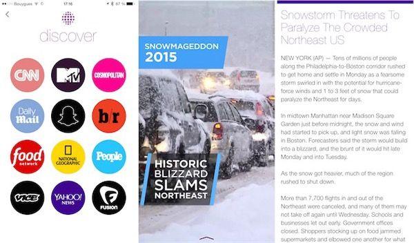 Appli - Snapchat ! Discover