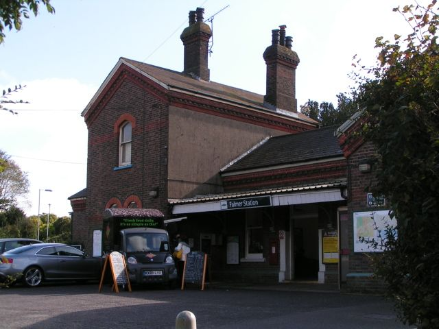 Falmer Railway Station (FMR) in Brighton, Brighton and Hove