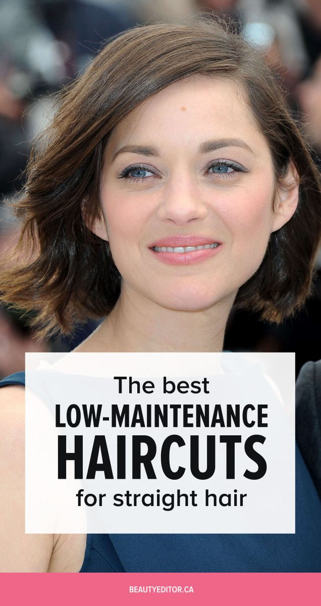 The Best Low,Maintenance Haircuts for Straight Hair
