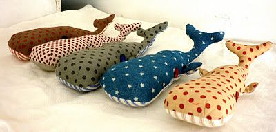 whales wouldn't these make cute floor pillows? or make huge body pillows...