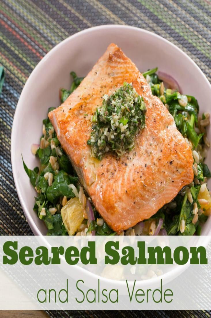 This seared salmon and salsa verde will melt in your mouth. You can't miss this recipe!