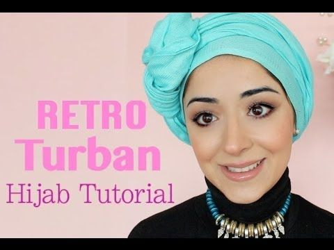 Retro Turban Tying Hijab Tutorial - Chemo Cap Scarf Tutorial For Cancer Patients - YouTube
