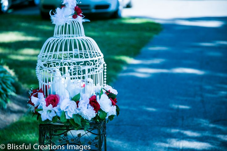 #birdcage with #flowers