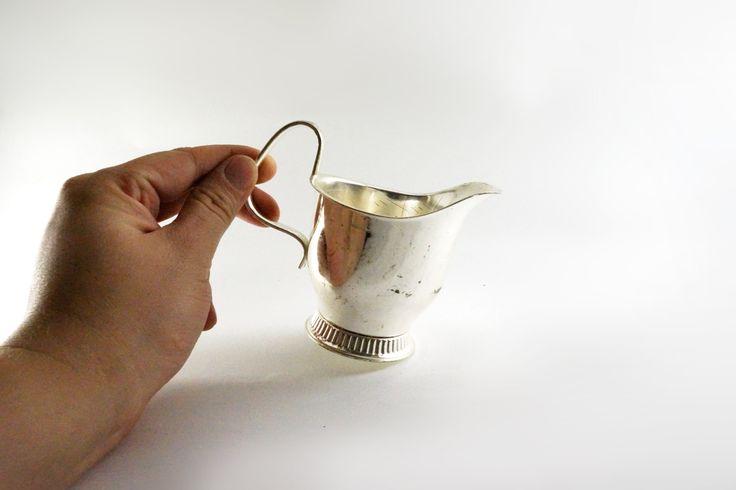 Vintage milk Jug wellner, silver Gravy Boat, metal Milk Jug, metal Pitcher, Rustic, Vintage Crockery, Small milk jug, metal Gravy Boat by nostalgishop on Etsy