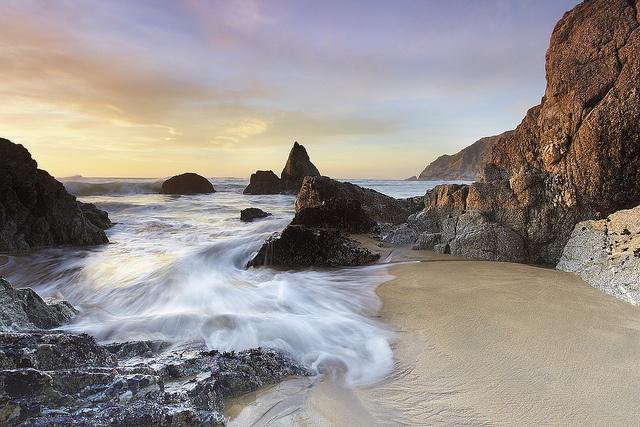 Grey Whale Cove Surf -Montara State Beach - San Mateo County, California by PatrickSmithPhotography, via Flickr