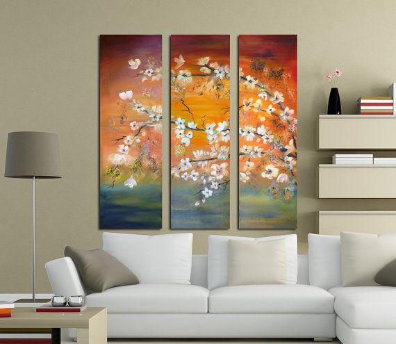 Cherry flowers original oil painting.  Modern by artstudioAreti, €119.62