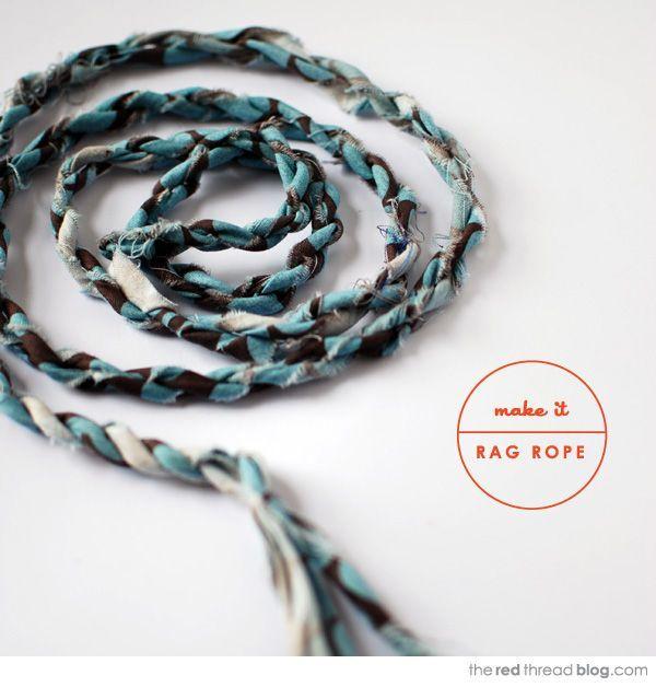 Diy Rag Rug Basket: The Red Thread :: Create, Inspire, Share