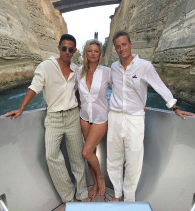 The pair are holidaying in Greece along with the model's 29-year-old toyboy boyfriend Count Nikolai von Bismarck and Hong Kong tycoon Sir…