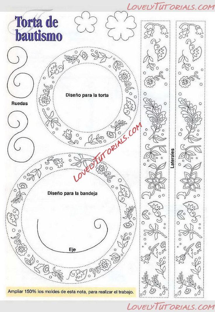 Шаблоны,трафареты для украшения глазурью -royal icing,filigree templates - Страница 3 - Мастер-классы по украшению тортов Cake Decorating Tutorials (How To's) Tortas Paso a Paso