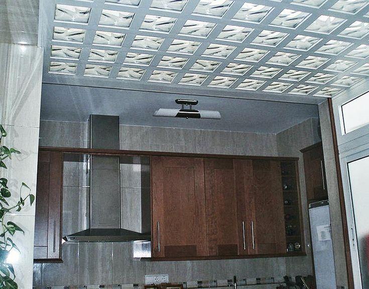 techo de ladrillo de vidrio