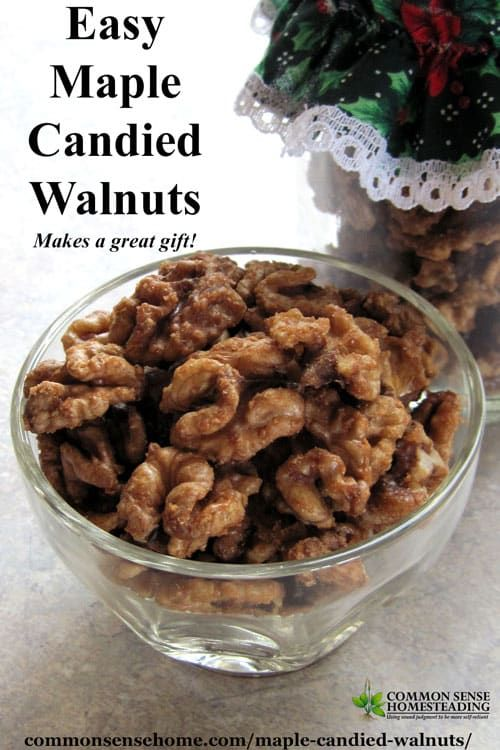 With real maple syrup, butter, sea salt and a touch of cinnamon, these maple candied walnuts make a special treat for any occasion.