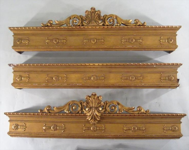 3 Renaissance Revival Giltwood Window Cornices, American, Circa 1880 L8BCF - Item #: 2613901