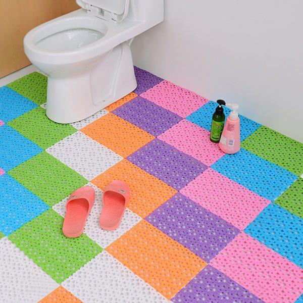 Us 4 99 Diy Carpet Candy Colors Plastic Bath Mats Massage Carpet