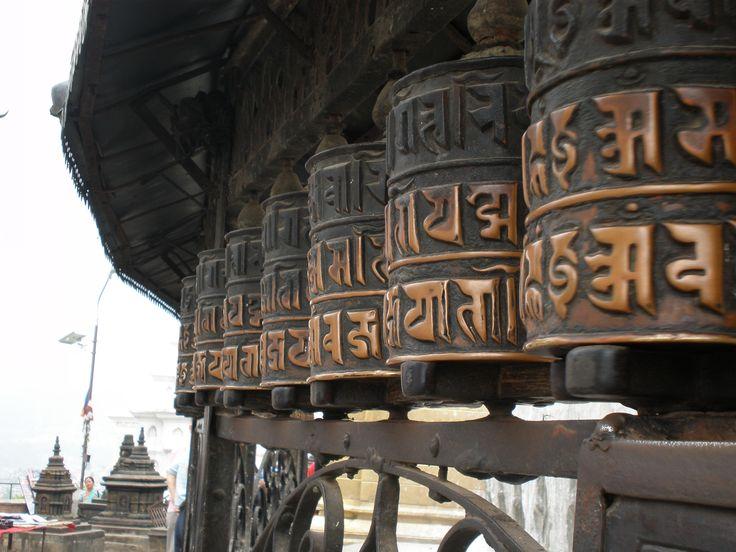 Prayer wheels Kathmandu Nepal
