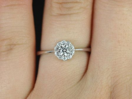 Conflict Free Magnolia 18kt Floral Diamond Cluster Engagement Ring
