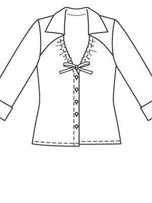 ce1c9ce3928 Блуза - выкройка № 106 A из журнала 3 2009 Burda – выкройки блузок ...