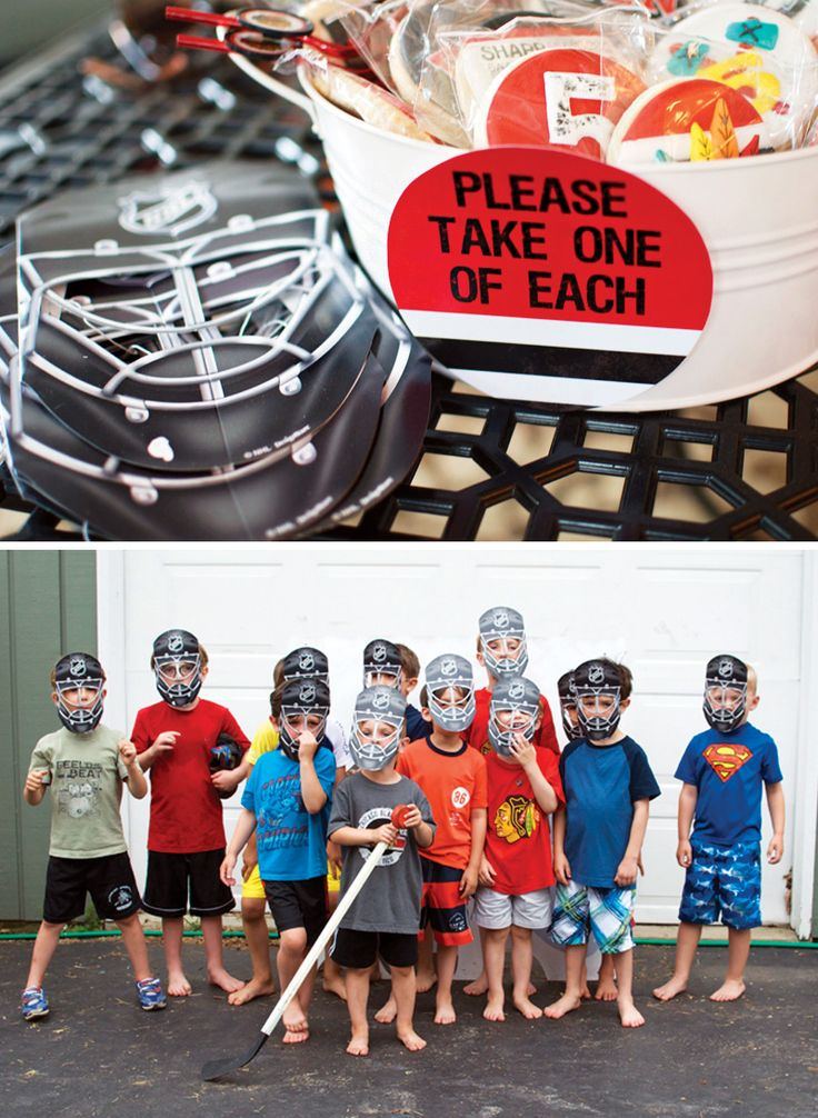 Creative Blackhawks Inspired Hockey Birthday Party
