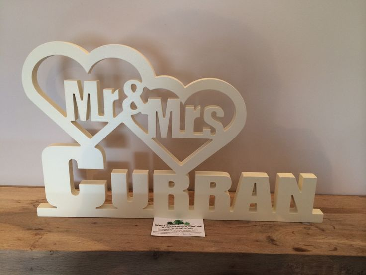 Painted Solid Wood Mr & Mrs for Weddings