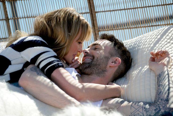 Adam Levine and girlfriend, Anne Vyalitsyna, film a new music video in their underwear! LA