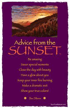 advice from a sunset - Google zoeken