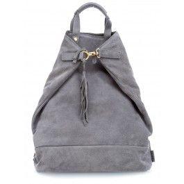 Motala S Rucksack-Tasche samtiges Rindsleder grau
