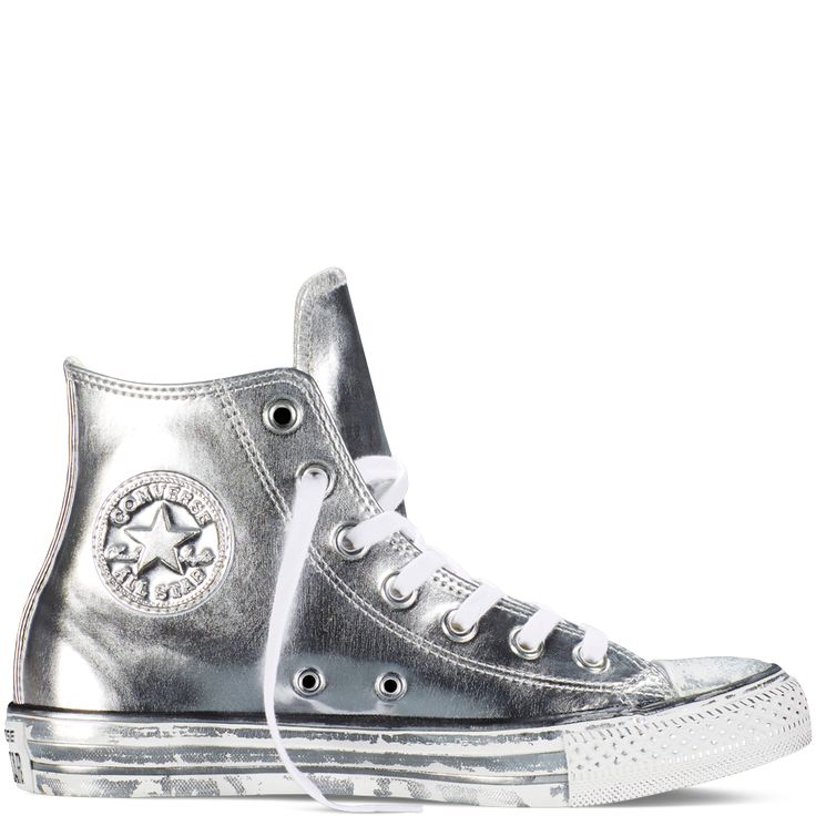 Chuck Taylor All Star Chrome Leather Silver/White/Black silver/white/black