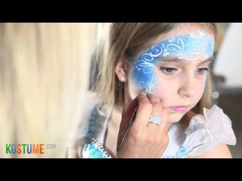 Tutorial: Kinderschminken Die Eiskönigin Elsa - YouTube