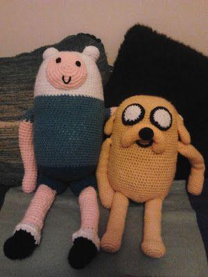 Amigurumis Finn y Jake de Hora de Aventuras