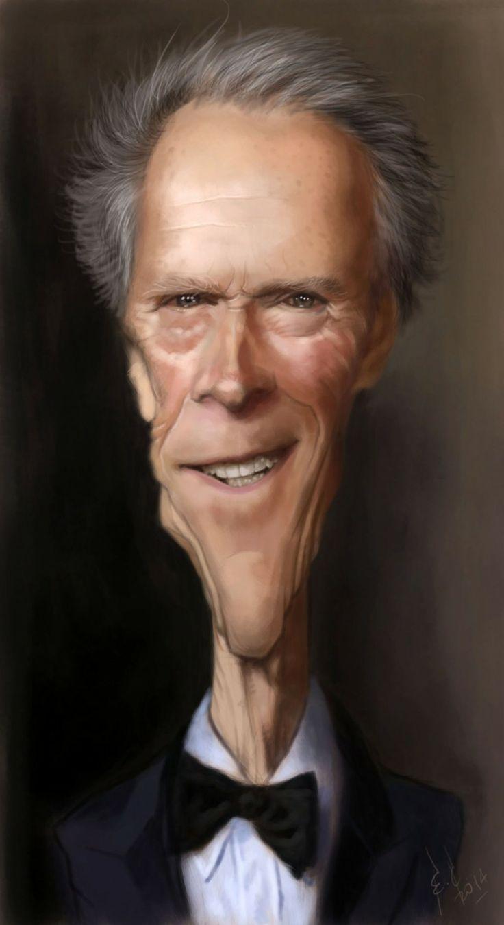 Caricatura de Clint Eastwood.