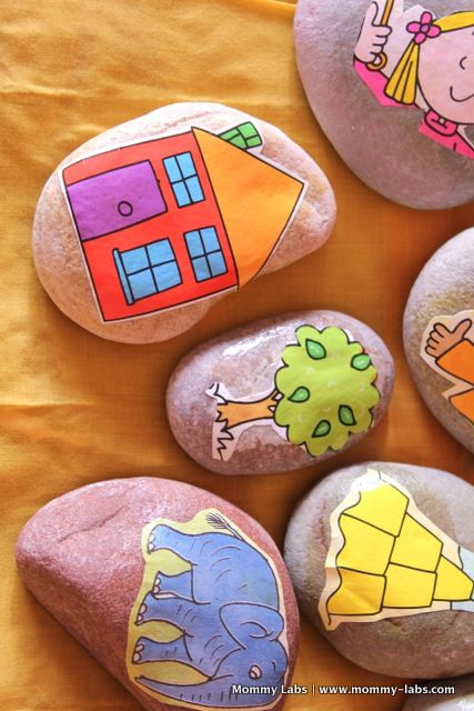 "make ""Story Stones"" in class - then let class retell scripture stories with their stones"