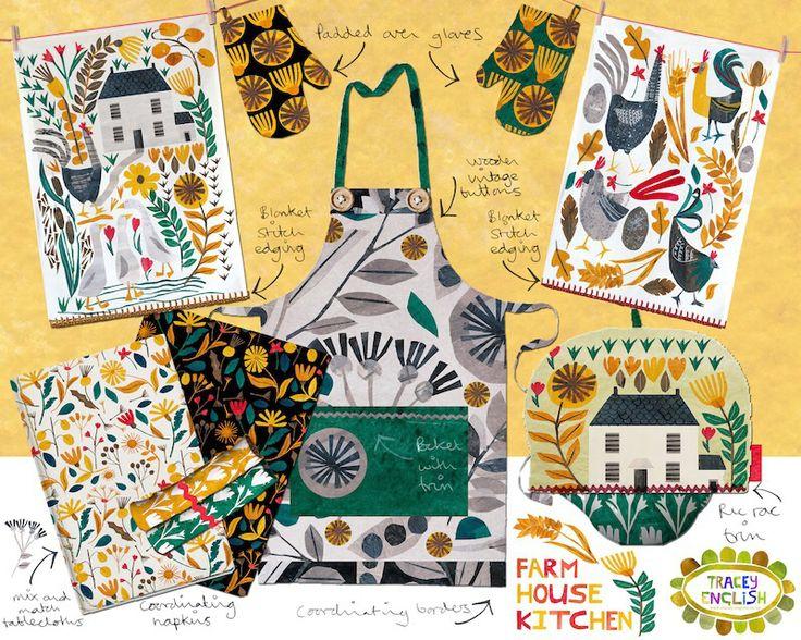 Fabric farmyard by Tracey English www.tracey-English.co.uk