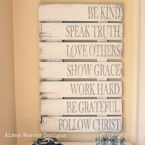 What a neat idea for doing a Character or Virtue study with the children. When we start studying a virtue, add it to the wall. Keep adding so they're reminded of them!