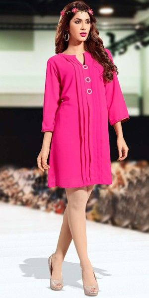 Beautiful Pink Georgette Kurti.