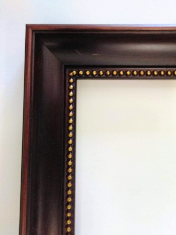 12 X 16 Picture Frame Wood With Gold Trim Well Made New This Is A Nice Custom Moulding Picture Frame Moulding Width Is 1 5 Picture Frames Frame Wood Frame