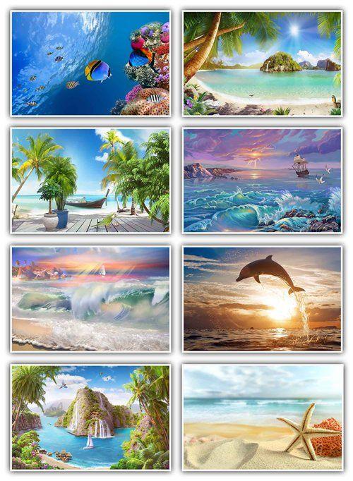 Экзотические фоны для оформления работ в Фотошопе