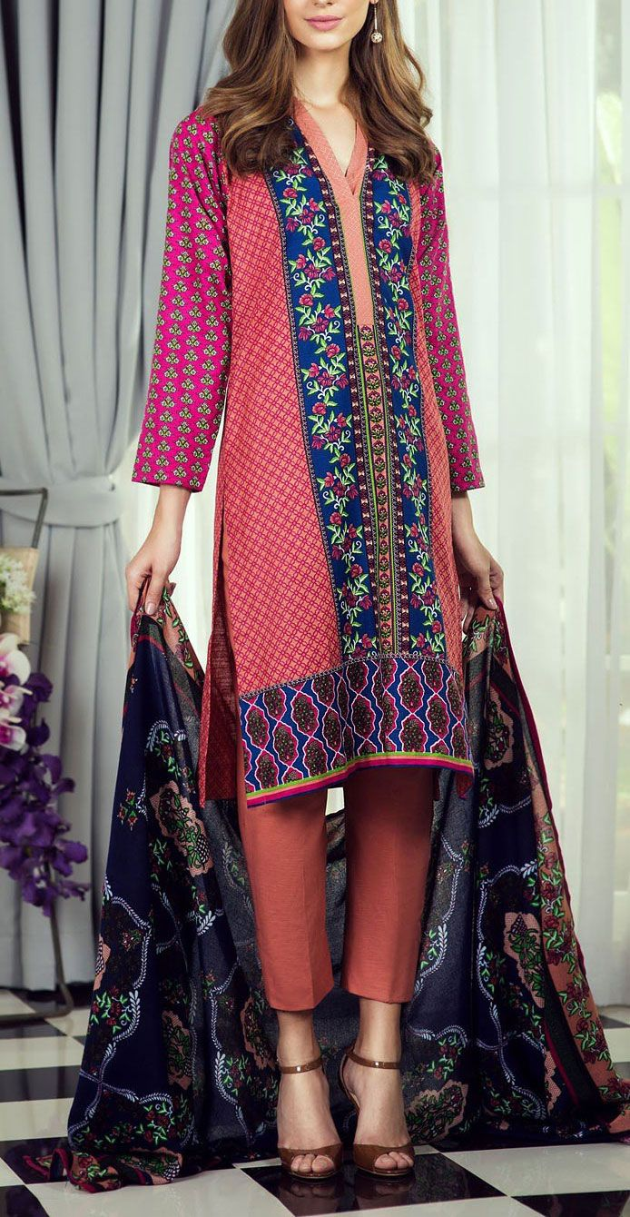 Buy Peach/Blue Printed Khaddar Salwar Kameez by Bonanza 2015 Call: (702) 751-3523 Email: Info@PakRobe.com www.pakrobe.com https://www.pakrobe.com/Women/Clothing/Buy-Winter-Salwar-Kameez-Online #Winter_Salwar_kameez