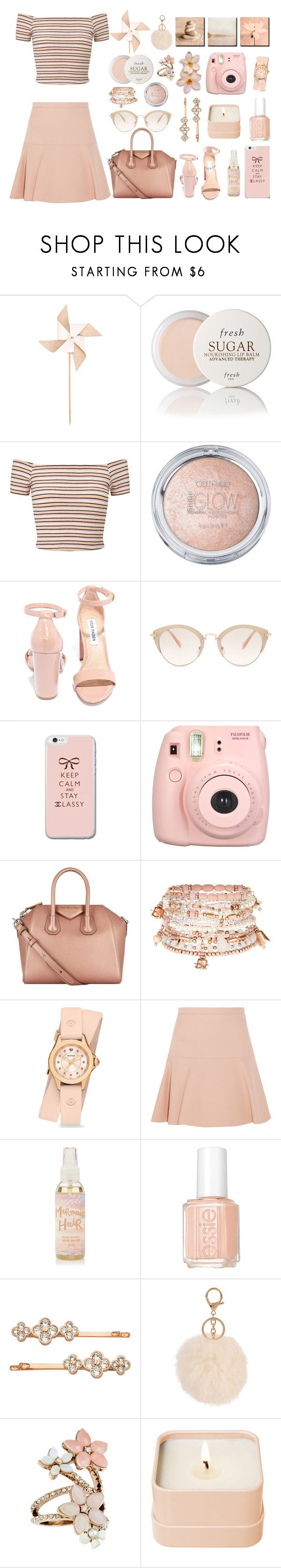 """Eunoia"" by mariahedanne ❤ liked on Polyvore featuring Hender Scheme, Fresh, Miss Selfridge, Steve Madden, Miu Miu, Fujifilm, Givenchy, Accessorize, Michele and Essie"