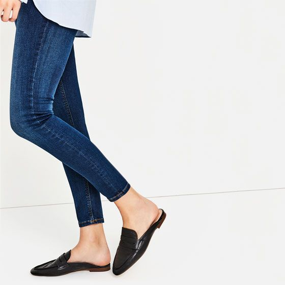 Image 4 of LEATHER MULE LOAFERS from Zara