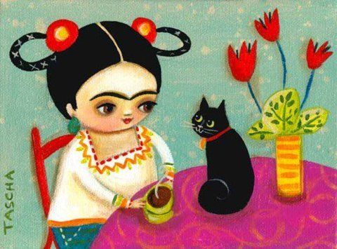 wee frida !the artist is Tascha Parkinson, she lives in Canada,