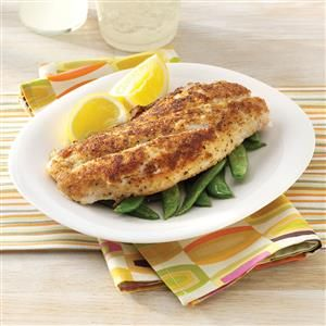Crumb-Coated Red Snapper Recipe -I reel in compliments with these moist, crispy-coated fillets whenever I serve them. Heart-healthy omega-3 oils are an added bonus with my simple but delicious entree that's done in mere minutes! I pair this fish with instant rice and microwaved frozen beans or broccoli to keep things quick! —Charlotte Elliott, Neenah, Wisconsin
