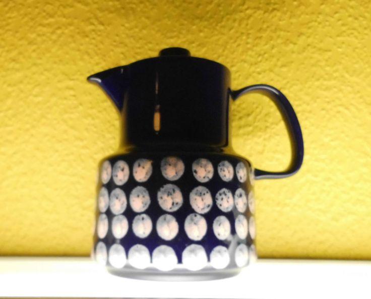 Melitta Kaffeekanne Teekanne Kopenhagen Polka Dots blau rosa Punkte Handgemalt in Antiquitäten & Kunst, Porzellan & Keramik, Porzellan | eBay!