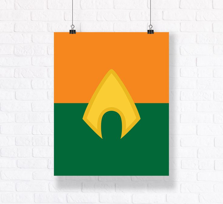 Aquaman Symbol Customizable Superhero Illustration Premium