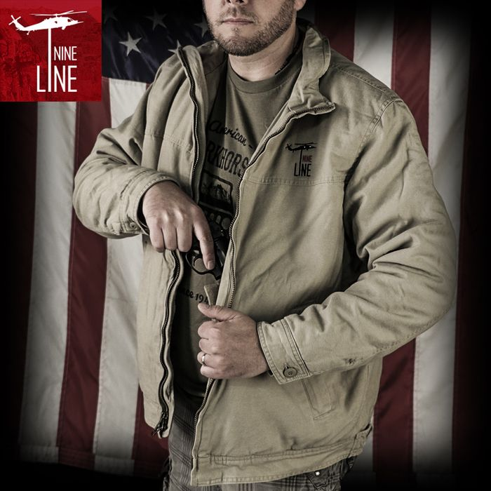 Rothco's 3 Season Concealed Carry Jacket will keep you warm from the fall to the spring season. The casual jacket comes with a tactical twist; the concealed carry jacket features two inner concealment pockets (one on each side) with hook & loop closures and four inner mag pockets with hook & loop flap closure. #ninelineapparel #tactical #tacticaljacket #concealcarry nine.li/2caFh6A