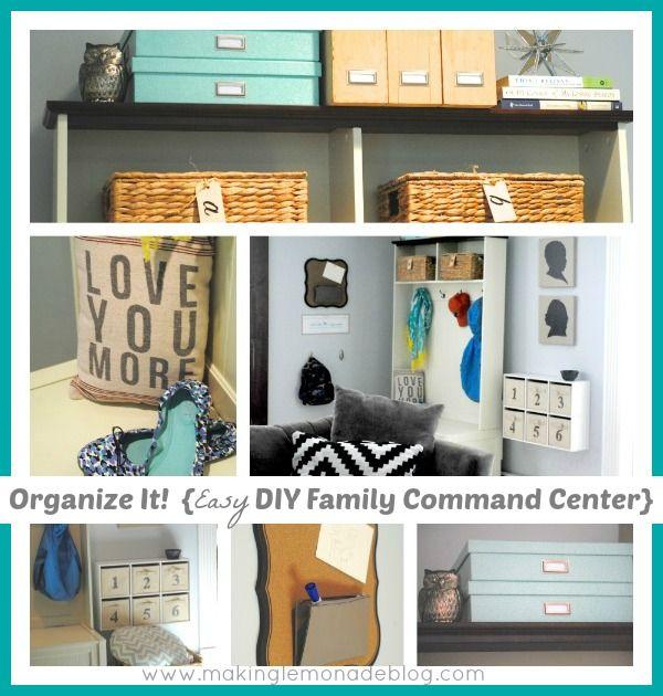 DIY Mudroom Family Command Center Makinglemonadeblog Back