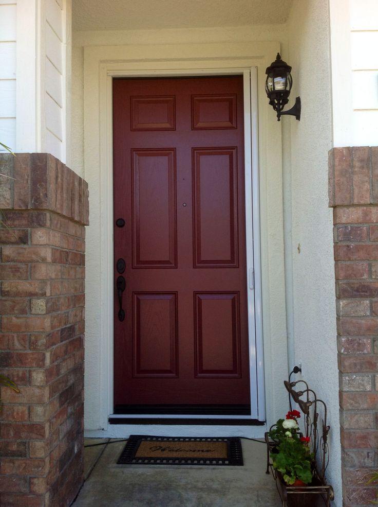 front door burnt crimson home pinterest black