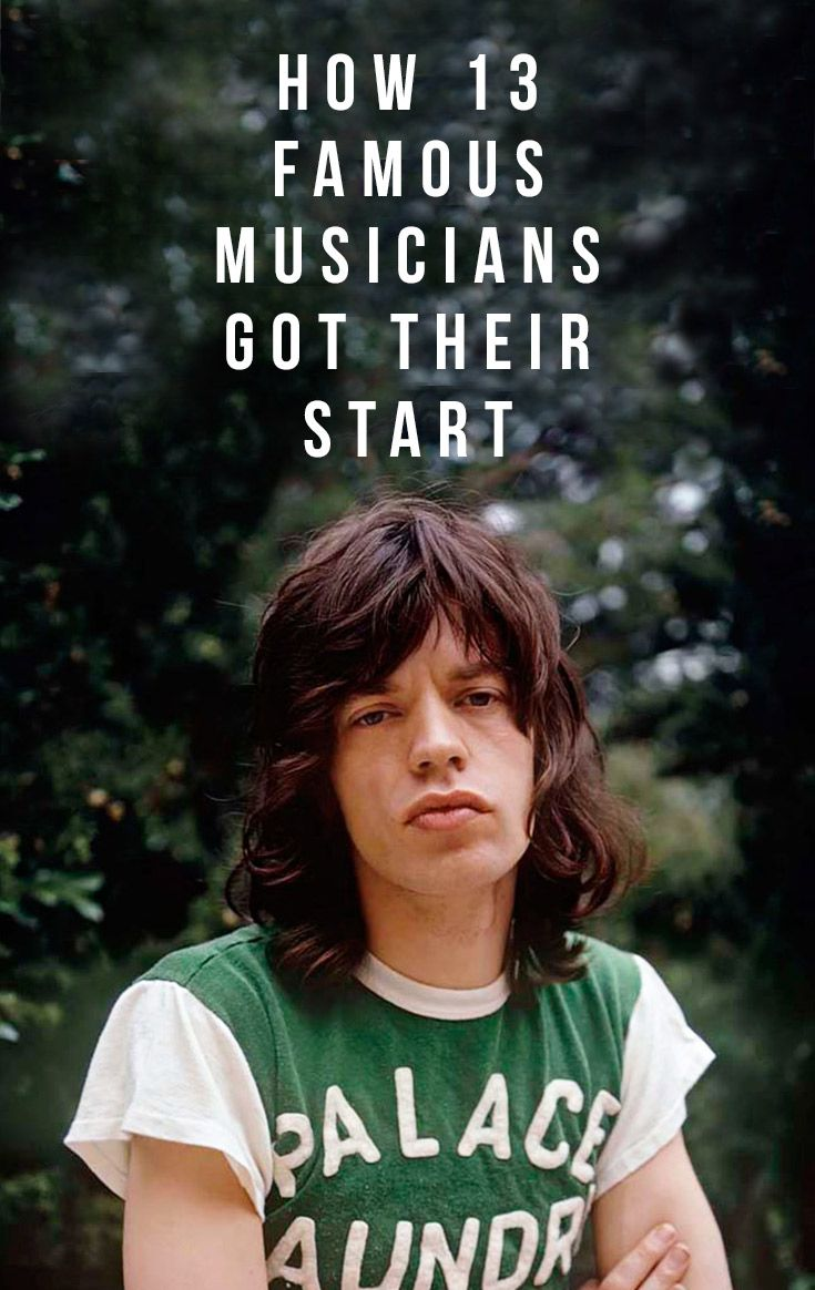 See how famous musicians began their careers