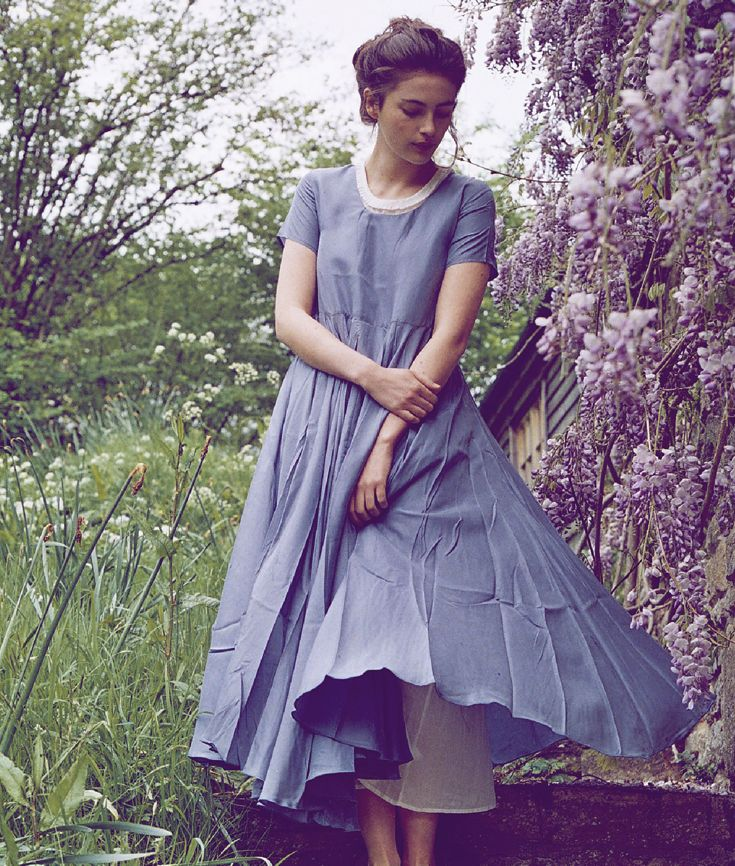 Cabbages and Roses Parachute Dress http://www.cabbagesandroses.com/blue-parachute-dress-3011 - model Millie Brady